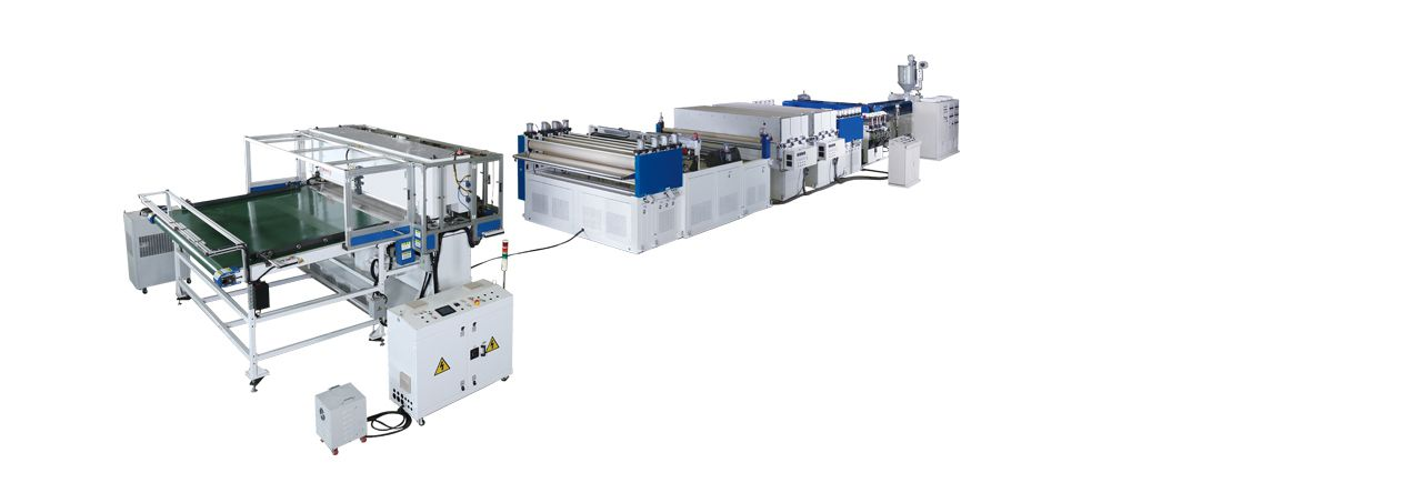 PP / PC Hollow Profile Sheet Extrusion Line